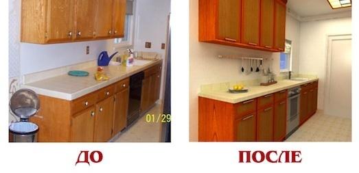 Как реставрировать фасад кухни своими руками 33