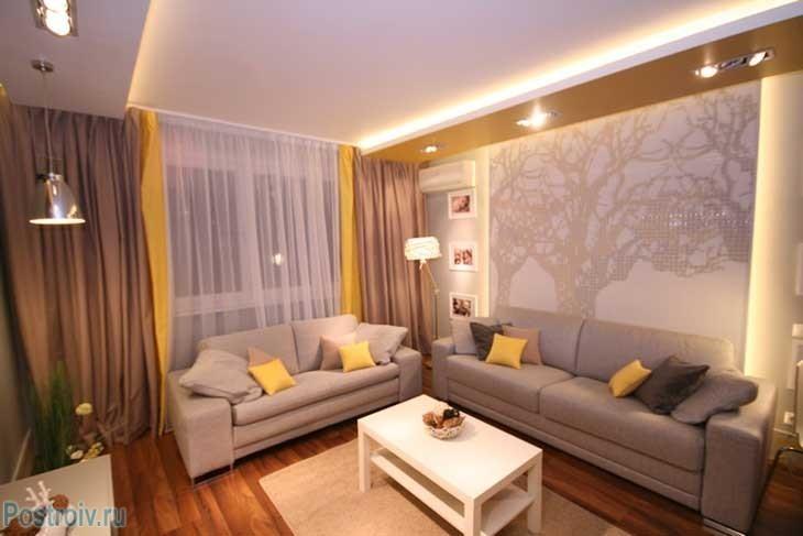 Дизайн зала 20 кв м в квартире с камином 138