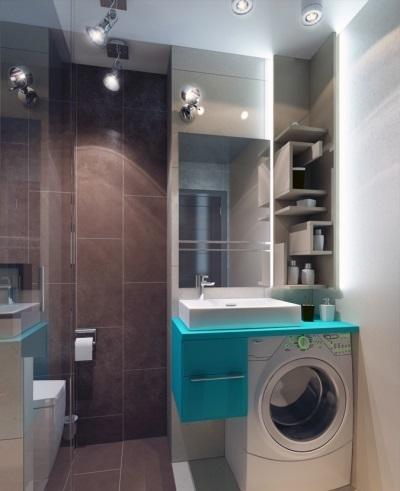 Дизайн ванной комнаты с машинкой в хрущевке