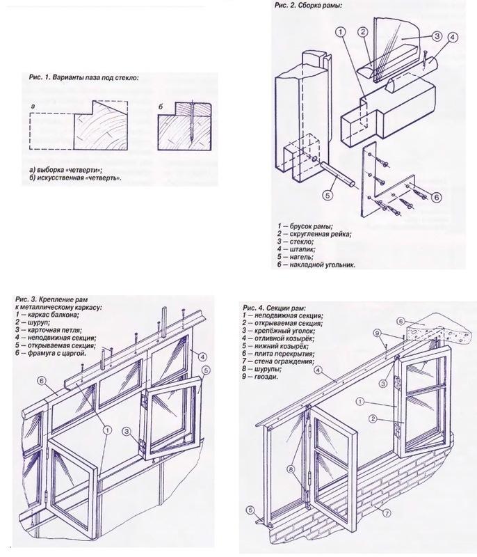 Установка деревянной рамы на балконе своими руками 41
