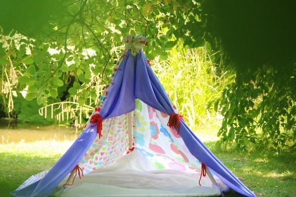 Поделка палатка в лесу 96