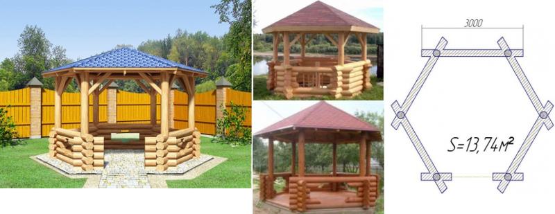 Строительство деревянной беседки с мангалом своими руками пошагово 90