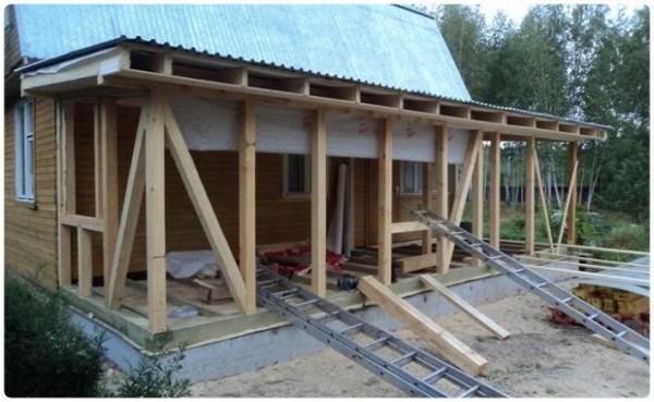 Пристрой к деревянному дому из бруса своими руками: советы