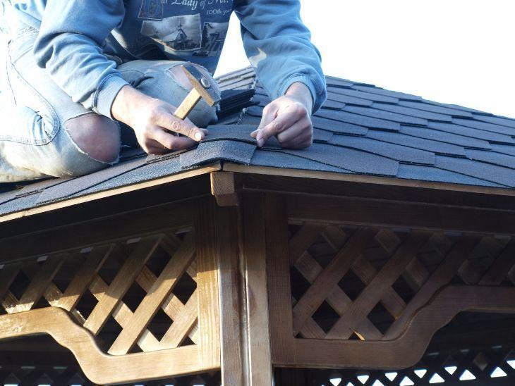 Сделать крышу из гибкой черепицы своими руками 64