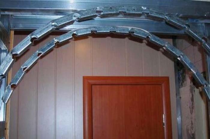 Как сделать каркас для перегородки гипсокартона с аркой