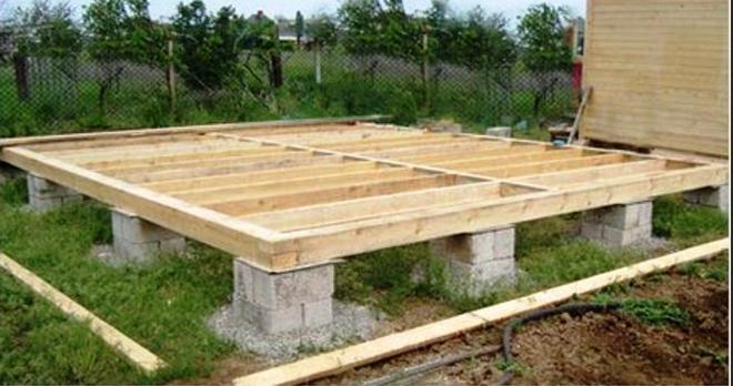 Столбовой фундамент каркасный дом своими руками6