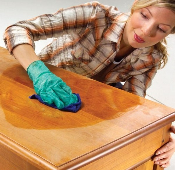 дубовая мебель уход подсллнечное масло дело