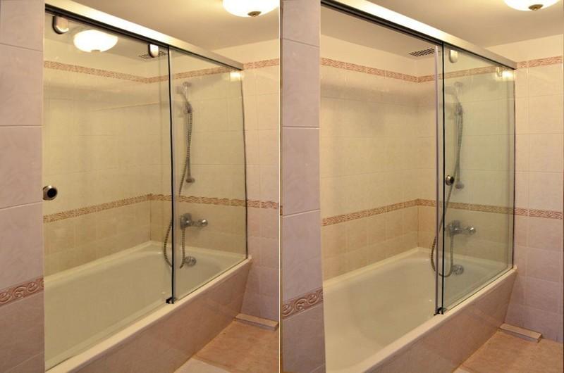 Стеклянный экран для ванной своими руками 24