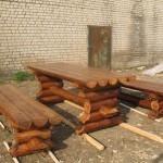 Мебель для дачи из бревна своими руками 26