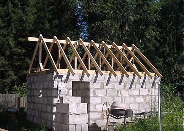 Строим сарай из пеноблоков своими руками поэтапный показ строительства