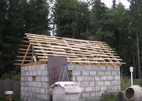 Строим баню своими руками из пеноблока поэтапный показ строительства